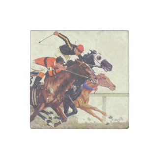 Thoroughbred Race Stone Magnets