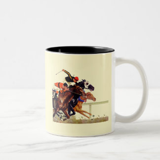Thoroughbred Race Two-Tone Coffee Mug