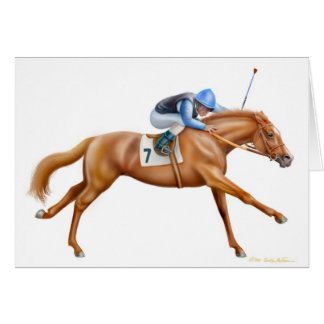 Thoroughbred Racehorse Card