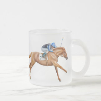 Thoroughbred Racehorse Frosted Mug