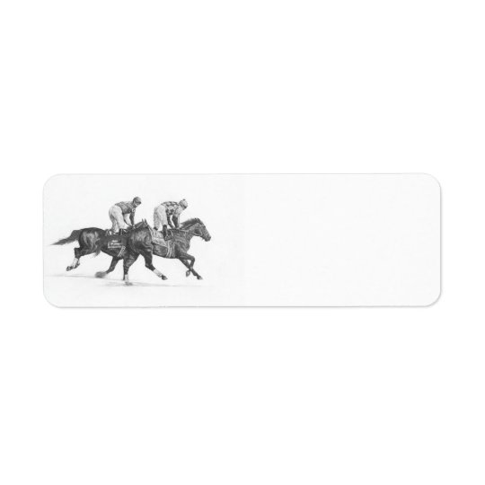 Thoroughbred Racehorse Return Address Labels