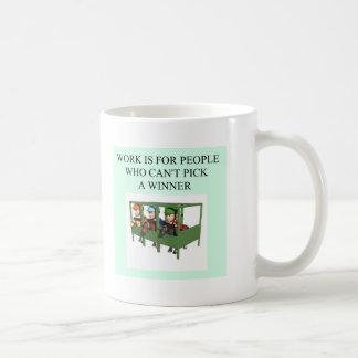 thoroughbred racing lovers coffee mug