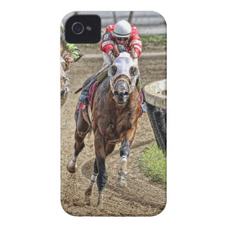 Thoroughbred Rounding Last Turn iPhone 4 Case