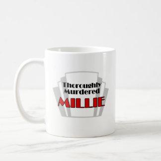Thoroughly Murdered Millie logo mug