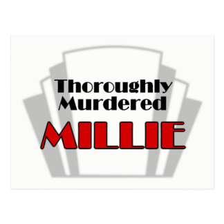 Thoroughly Murdered Millie Postcard