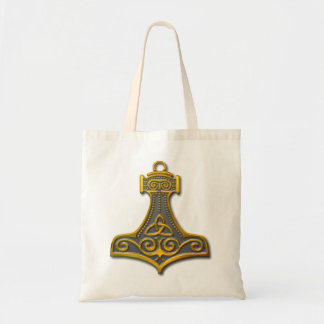 Thor's Hammer-gold Budget Tote Bag