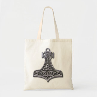 Thor's Hammer-silver Budget Tote Bag