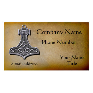Thors Hammer silver Pack Of Standard Business Cards