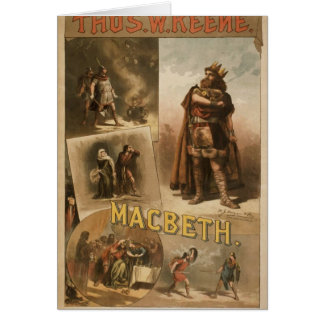 Thos .W. Keene, 'Macbeth' Retro Theater Card