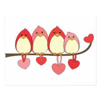 Those Birds On Valentines DAy Postcard
