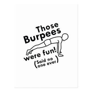 Those Burpees Were Fun Postcard