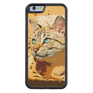 THOSE EYES! CARVED MAPLE iPhone 6 BUMPER CASE