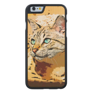 THOSE EYES! CARVED MAPLE iPhone 6 CASE