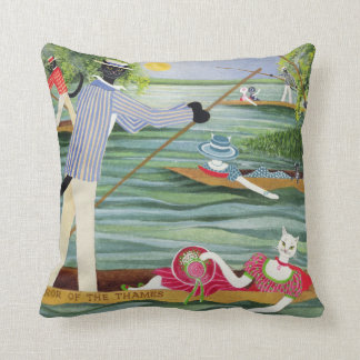 Those Summer Punts Throw Pillow