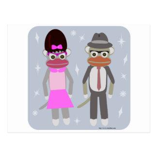 Those Swingin Sock Monkeys Postcard
