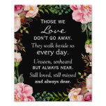 Those We Love Don't Go Away Wedding Memorial Sign
