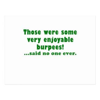 Those were some very enjoyable Burpees said no one Postcard
