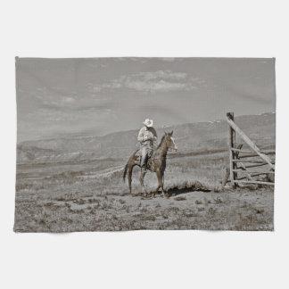 Those Wild Montana Skies Cowboy Kitchen Towel