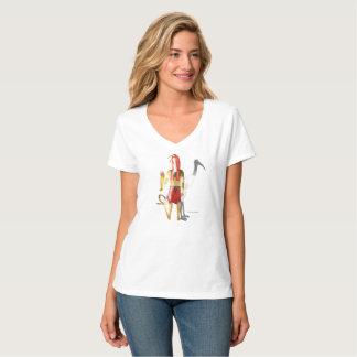 Thoth Ghostly Shadows Ladies V-Neck Nano T-Shirt