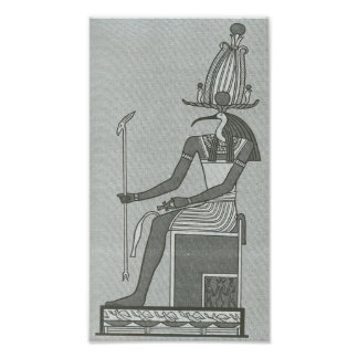 Thoth Sitting On His Throne Portfolio Poster