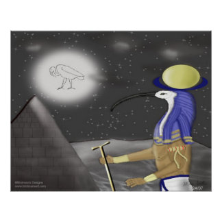 Thoth_The Moon Deity Poster