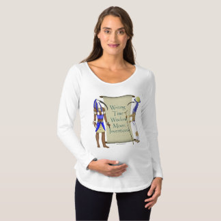 Thoth's List Maternity Long Sleeve Shirt