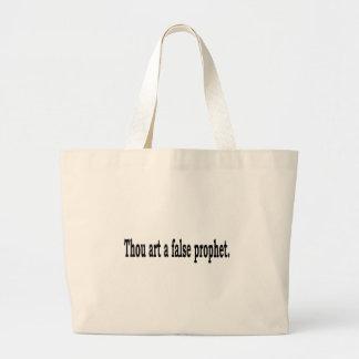Thou Art A False Prophet Large Tote Bag