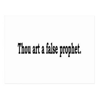 Thou Art A False Prophet Postcard