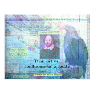 Thou art as loathsome as a toad SHAKESPEARE Postcard