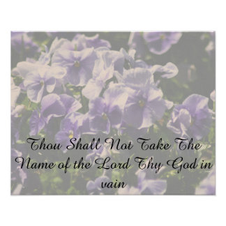 Thou Shall Not Take the name of God in Vain Poster