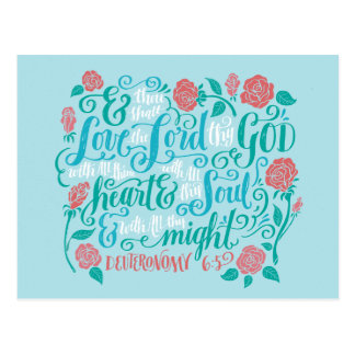 Thou Shalt Love the Lord thy God Postcard