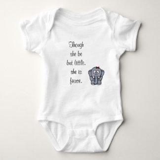 Though She Be But Little, She Is Fierce. Baby Bodysuit