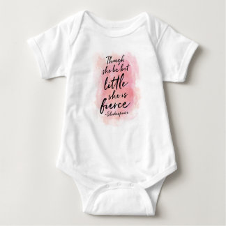 Though she be but little, she is fierce baby onsie baby bodysuit