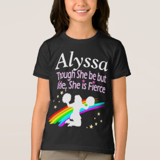 THOUGH SHE BE BUT LITTLE SHE IS FIERCE CHEERLEADER T-Shirt