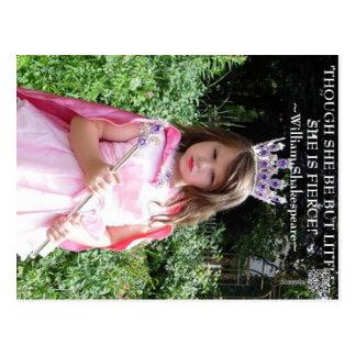 Though she be but little she is fierce! postcard