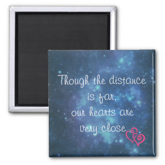 Though the distance is far love note square magnet