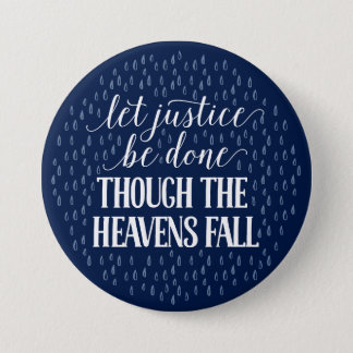 Though the Heavens Fall Navy Button