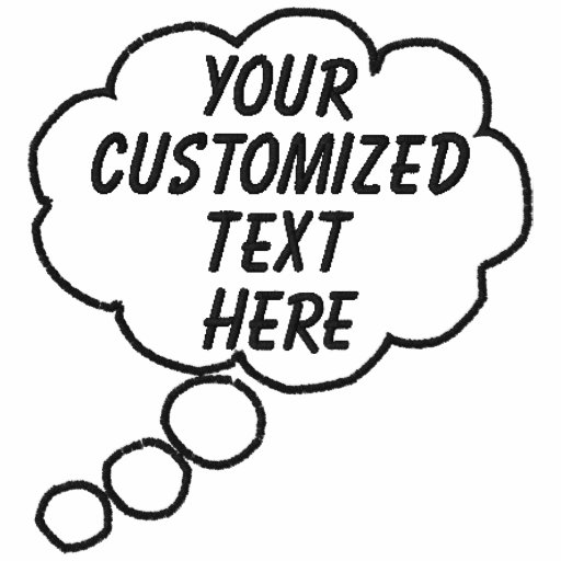Thought Bubble Embroidered T-Shirt Template