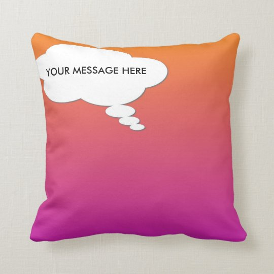 THOUGHT BUBBLE PILLOW... CUSTOMIZABLE! THROW PILLOW