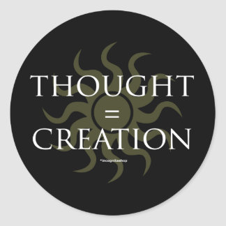 Thought Creation Round Stickers