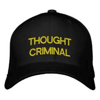 Thought Criminal Black Baseball Cap