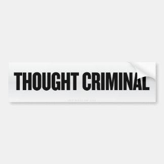 Thought Criminal Bumper Sticker