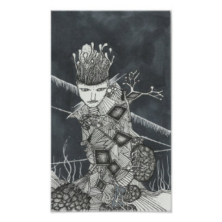 Thought Jungle (pen and ink} Poster