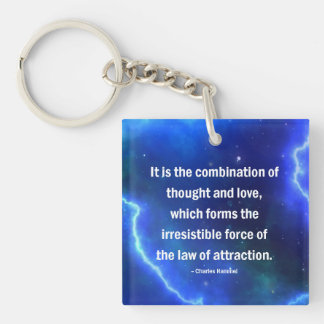Thought & Love, Motivate, Inspire, LOA, Keychain