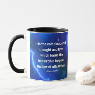 Thought & Love, Motivate, Inspire, LOA, Mug