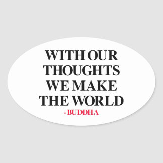 Thought on Wisdom Oval Sticker