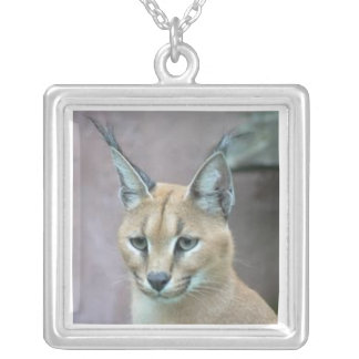 Thoughtful Caracal Neckless Silver Plated Necklace