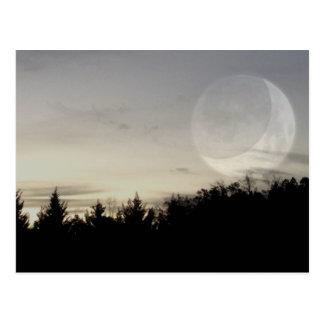 thoughtful dark sky postcard