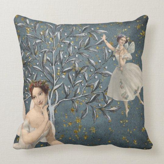 Thoughtful Fairies Throw Pillow