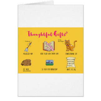 Thoughtful Gifts Funny Cartoon Christmas Card
